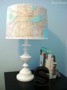 (Map Lampshade from www.DIYcandy.com)