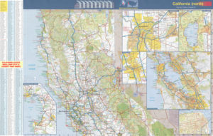California road maps for sale