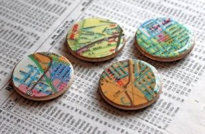 (Map Magnets from www.DIYcandy.com)