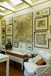 (Historic Map Display from Houzz)